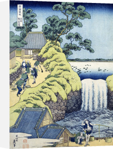 The Aoigaoka Falls In The Eastern Capital by Katsushika Hokusai