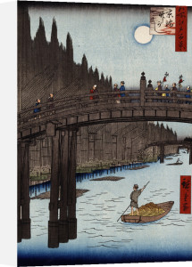 'Moon Viewing Pine, Ueno by Ando Hiroshige