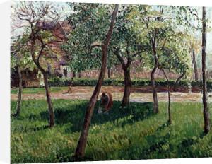 The Enclosure At Eragny, Un Clos A Eragny by Camille Pissarro