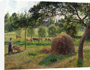 Dusk At Erangy, Soleil Couchant A Eragny by Camille Pissarro