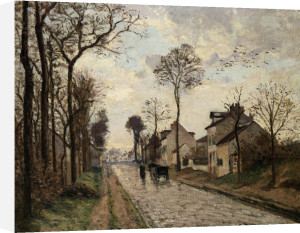 The Road To Saint-Cyr At Louveciennes by Camille Pissarro