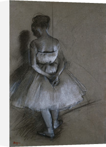 Dancer Standing, Her Hands Crossed Behind Her Back by Edgar Degas