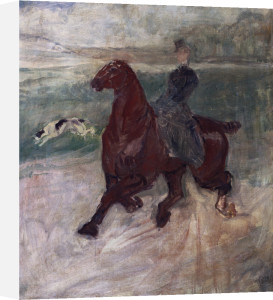 Amazone And Dog by Henri de Toulouse-Lautrec