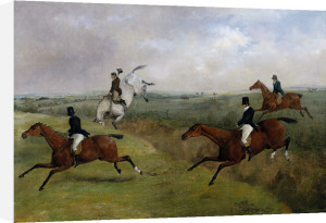 The Grand Leicestershire Steeplechase, Dick Christian's Last Fall by Henry Alken