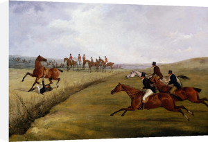 The Grand Leicestershire Steeplechase, March 12th, 1829: The Climax Of Disaster by Henry Alken