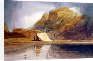 A Mountainous Lake With A Tent Pitched On The Shore by John Sell Cotman