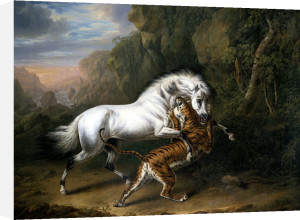 A Tiger Attacking An Arabian Stallion by Charles Towne