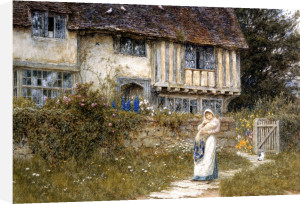 Beside The Old Church Gate Farm, Smarden, Kent by Helen Allingham