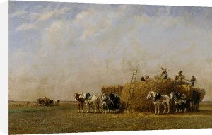 Loading The Hay Carts by Jules-Jacques Veyrassat