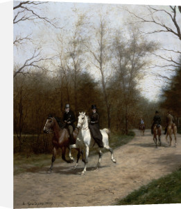 The Morning Ride In The Bois De Bologne by Edmond Georges Grandjean