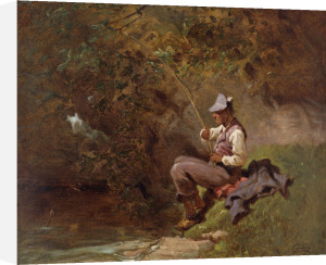 The Angler by Carl Spitzweg