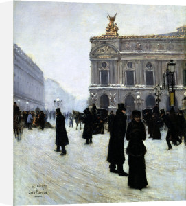 Outside The Opera, Paris by Jean Beraud