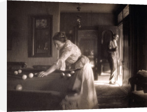 The Billiard Game by Gertrude Kasebier
