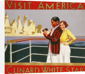Visit America, Cunard White Star by Christie's Images