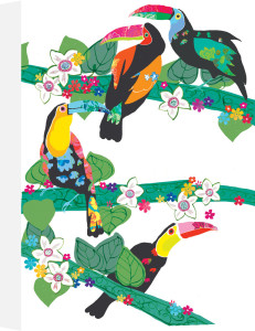 Curious Toucans by Louise Cunningham