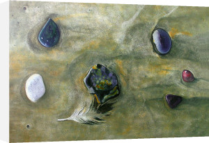 Six Pebbles and a Feather by James Knowles