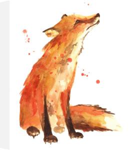 Watercolour Fox - Trusting Eyes by Alison Fennell
