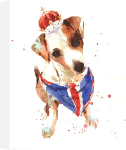 Jubilee Jack Russell - The Union Jack by Alison Fennell