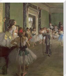 The Dancing Class, c.1873 by Edgar Degas