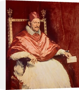 Portrait of Pope Innocent X, 1650 by Diego Rodriguez de Silva Velazquez