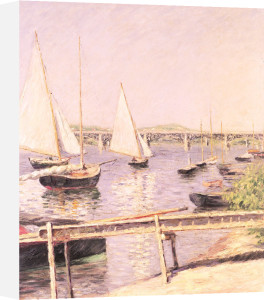 Sailing boats at Argenteuil, c.1888 by Gustave Caillebotte