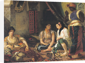 The Women of Algiers in their Apartment, 1834 by Ferdinand Victor Eugene Delacroix