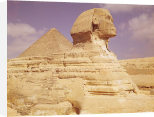 The Sphinx and The Great Pyramid of Khufu c.2613 BC by Egyptian Art