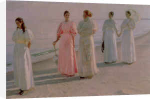 Promenade on the Beach by Michael Peter Ancher
