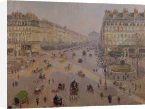 The Avenue de L'Opera, Paris, c.1880 by Camille Pissarro