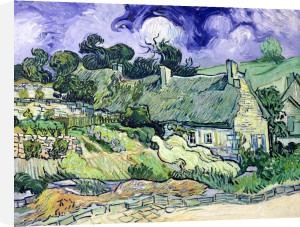 Thatched cottages at Cordeville, Auvers-sur-Oise, 1890 by Vincent Van Gogh