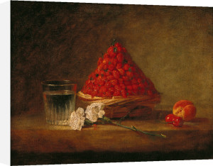 Basket with Wild Strawberries, c.1761 by Jean Baptiste Chardin