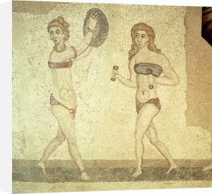 Women gymnasts, Roman mosaic, early 4th century by Anonymous