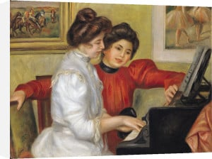 Yvonne and Christine Lerolle at the piano, 1897 by Pierre Auguste Renoir