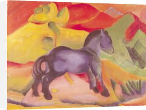 Blaues Pferdchen by Franz Marc