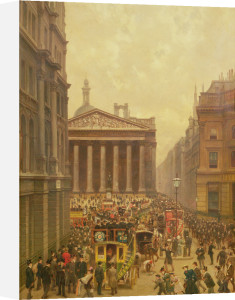The Rush Hour by the Royal Exchange, 1904 by Alexander Friedrich Werner