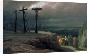 Night at Golgotha, 1869 by Vasili Vasilievich Vereshchagin