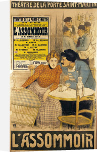 Poster advertising 'L'Assommoir', 1900 by Theophile-Alexandre Steinlen