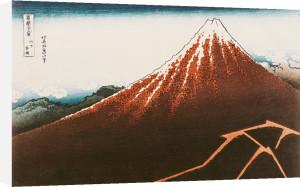 Fuji above the Lightning by Katsushika Hokusai
