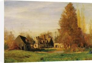 Farmyard by Francois Louis Francais