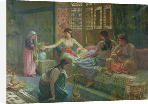 Interior of a Harem, c.1865 by Leon-Auguste-Adolphe Belly