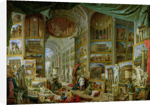 Gallery of Views of Ancient Rome, 1758 by Giovanni Paolo Panini