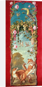 The Fox and the Grapes Savonnerie tapestry by Anonymous
