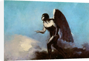 The Winged Man or Fallen Angel 1880 by Odilon Redon