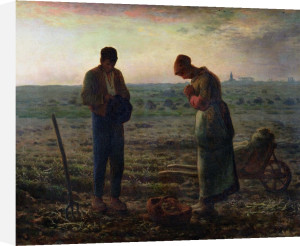 The Angelus 1857 by Jean Francois Millet