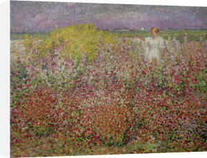 Mrs. Russell Amongst the Flowers at Belle Isle 1927 by John Peter Russell