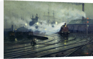 Cardiff Docks 1896 by Lionel Walden