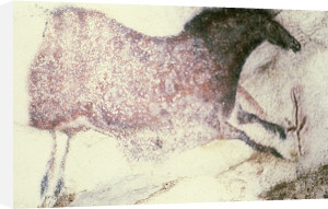 Rock painting of a galloping horse by Anonymous