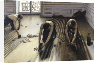 The Parquet Planers 1875 by Gustave Caillebotte