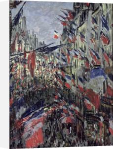 The Rue Saint-Denis 1878 by Claude Monet