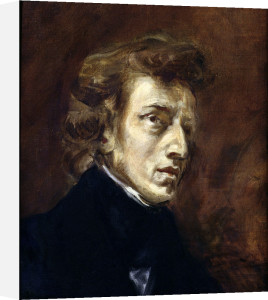 Frederic Chopin 1838 by Eugene Delacroix